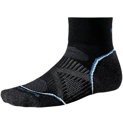 Nogavice volnene PHD RUN LIGHT MINI Black Smartwool