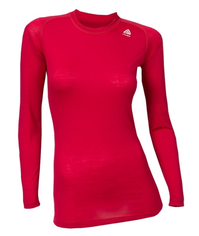 Volnena majica ženska Lightwool CREW NECK Persian Red Aclima