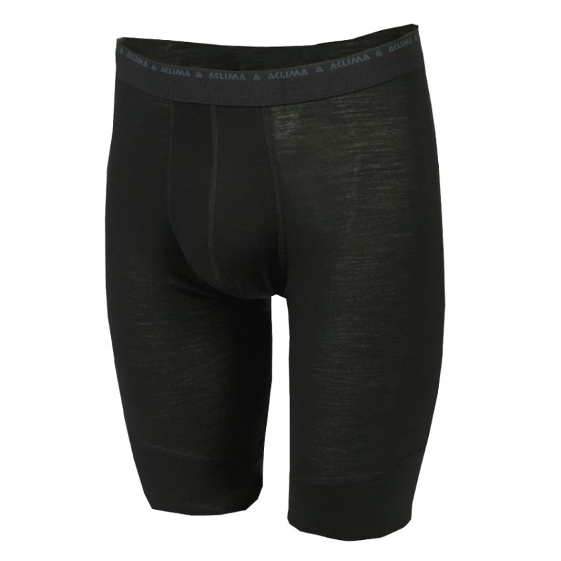Volnene spodnjice LightWool SHORTS Long Jet Black Aclima