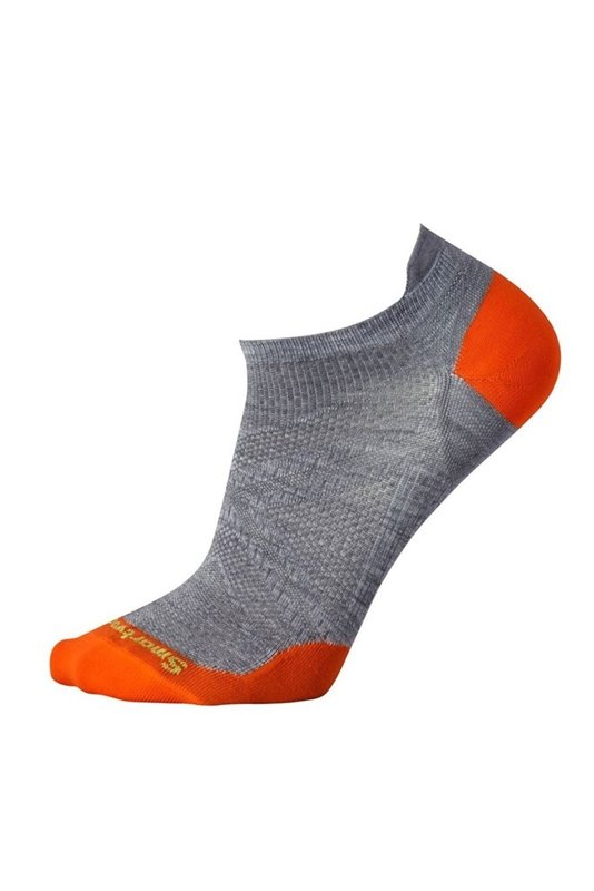 Nogavice volnene PHD RUN ULTRA LIGHT MICRO Gray-Orange Smartwool